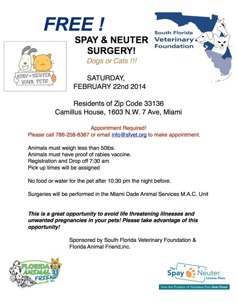 SFVF Spay Neuter Event 2014 1