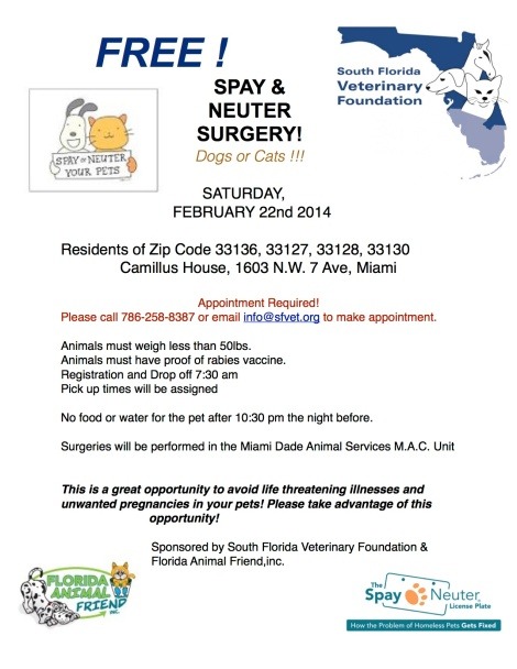 SFVF Spay Neuter Event 2014 2